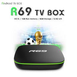 Новые телевизоры онлайн-2018 Новый R69 Android 7.1 TV BOX Allwinner H3 чип четырехъядерный Rom 1 ГБ оперативной памяти 8 ГБ Set Top Box Android Media Player