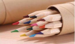 Wholesale Wood Pen Pencil Set - eco-friendly colored Lead Color drawing pencil wood Colour Pencil Sets of 12 colour kids colored drawing pencils children Graffiti pens