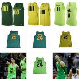 Wholesale Oregon Ducks Green - Custom Oregon Ducks 1 Bol Bol 24 Louis King Dillon Brooks Dark Green yellow Stitched Any Name Number NCAA College Basketball Jerseys