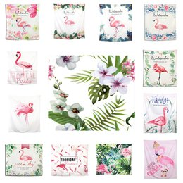 Wholesale Compressed Cloth - 150*130CM Polyster Wall Hanging Blankets 70 Styles Flamingo Elephant Beach Towel Home Cloth Background Tapestry Mandala Home Decor