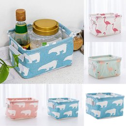 Wholesale oxford fabric storage box - Foldable 7 styles Fabric Cloth Oxford Storage Box Household Organizer Cube Bin Basket-Container