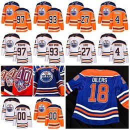 57ece41ad 40th (1979-2019) Edmonton Oilers Connor McDavid Milan Lucic 93 Ryan  Nugent-Hopkins Kris Russell 18 Oilers Heritage Uniform Hockey Jerseys