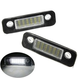 Wholesale Ford Numbers - 2PCS Pair 12V 18 LED SMD License Plate Light Number Plate Lamps Light For Ford Mondeo MK2 White
