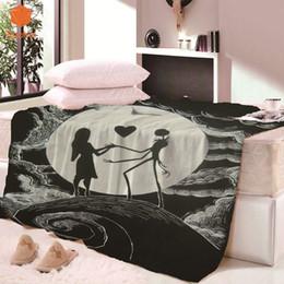 Kids bedsheet on-line-Super Macio Thicking Crânio Amor Retângulo Cobertor para Bed BeachTowel Para Crianças Adultos Cobertor Lança bedsheet Viagem CB68