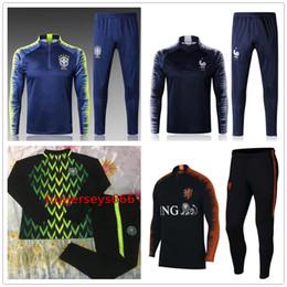 Wholesale Tracksuits Jacket Pants - Nigeria soccer Tracksuit 2018 World Cup jacket 18-19 Nigeria STARBOY Okocha jerseys set football training suit pants