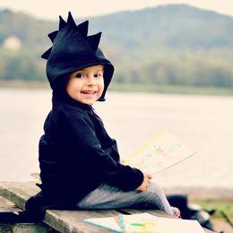 roupas bonitos do bebê para o inverno Desconto Bebê Crianças Vestuário Meninos Hoodies Dinossauros das Crianças Meninas Meninos Moletom Com Capuz Novo Outono Inverno Bonito Roupa Dos Miúdos Outfits Tops