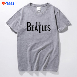 design shirts sell Coupons - Hot Sell Fashion Brand TShirt Men's Cotton Creative Boom Design T-shirt THE BEATLES Letter Print Tee Shirts Hipster