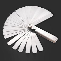 мастер-наборы инструментов Скидка 32 Pcs/Set 0.02-1.0MM Blade Master Feeler Gauge Stainless Steel Measuring Tool Kit High Quality CLH@8