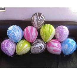 Ballons de nuage en Ligne-10 pouces Coloré Agate Ballon Imprimé Nuage Boule De Mariage Bar KTV Accueil Décoratifs D'anniversaire 100pcs / pack HH7-1064