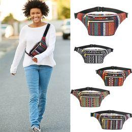 Neue Ankunft Bohemian Style Frauen Druck Bauchtasche Mode-Design Outdoor Sports Taille Taschen Schulter Crossbody Taschen 5 Farbe Hohe qualität von Fabrikanten