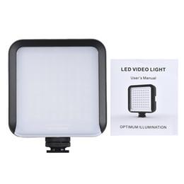 Mini filmadora portátil de iluminação de vídeo led 64 contínua na câmera led painel de luz para canon nikon sony a7 dslr de