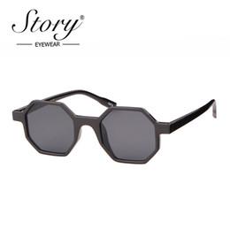 45e22fde1e STORY Brand designer hexagon sunglasses women men 2019 fashion Small Frame  vintage black sun glasses shades for female S97556DY
