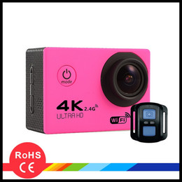 Wholesale roller water - WIFI 2.4G 4K Action Camera F60R 2.0 LCD HD 1080p 60fps Recorded Bluetooth Control of 30m Water-Resistant Shells DHL Free