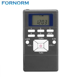 Wholesale Frequency Receiver - Fornorm Portable Frequency Modulation LCD FM Radio Digital Signal Processing Wireless Receiver With Stereo Earphone String