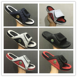 Wholesale sneakers slippers - Wholesale new 13 slippers 13s Blue black white red sandals Hydro Slides basketball shoes casual running sneakers size 7-13