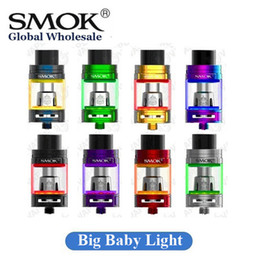 Wholesale big bottom - Authentic SMOK TFV8 Big Baby Tank Light Edition 2ml 5ml with Bottom Changeable LED Sub Ohm Atomizer 100% Original SMOKTECH