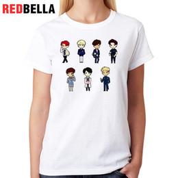 Tee-shirt femme Redbella Bts Tee-shirt femme Harajuku Kpop Idol de style coréen Hip Hop Ulzzang Kawaii Womens Hauts 100% coton Top Femme ? partir de fabricateur