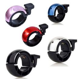 Wholesale Aluminum Bike Handlebars - Hidden Curve Bike Bell CNC Aluminum Alloy Cycling Bicycle Handlebar Ring Bells Safe Alarm Environmental Horn