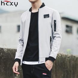 Wholesale large mens coats jacket - HCXY 2017 New Men Jacket Spring Autumn Fashion Brand Slim Fit Coats Male Baseball Bomber Jacket Mens Coat large size 5XL