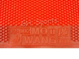 Wholesale long pimples rubber - 2x Globe Mo Wang II Long Pips-Out Table Tennis (Ping Pong) Rubber Without Sponge (Topsheet, OX)