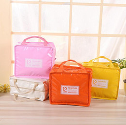 Wholesale Cool Packaging Boxes - Insulation Lunch Box Bag Square Package Thermal Lunch Cooler Beam Port Work School Picnic Lady Handbag Kids Lunch Bags 50pcs OOA3834