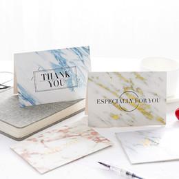 Nuovo arrivo 7 Stili Marmo texture Bronzing Grift Cards Invito a nozze Biglietti d'auguri per feste e festival da farfalle di inviti fornitori