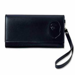 2018 Kart Sahibinin Aape Ape Cüzdan Pasaport Çanta Depolama Cüzdan Tüm Siyah Ve Yeşil Japonya Tarzı Moda nereden cüzdan sahipleri japonya tedarikçiler