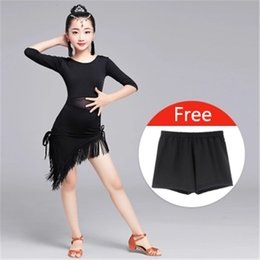 Wholesale Kids Ballroom Dance Costumes - 2018 New Modern Girl Latin Dance Dress For Girls Salsa tango skirt Ballroom Dancing Dress child Competition Dancewear Kids Dance Costumes
