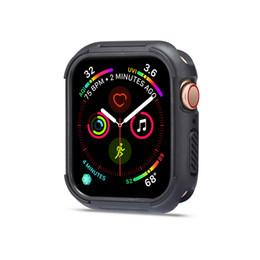 Алюминиевые раковины онлайн-Наручные часы Band Аксессуары Чехол Алюминиевый Для Apple Watch Series 4 40мм 44мм Часы Защитный Металлический Корпус Бампера 40 40
