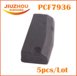 Wholesale Transponder Key Id46 - [Factory Price] Free shipping 5pcs lot pcf7936as chip id46 ID 46 transponder chip unlock can for most of cars key