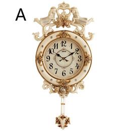 2019 grande relógio de vida Relógio de parede Grande Sino Europeu Pêndulo Relógios Domésticos Relógio Personalidade Moda de Luxo Nórdico Grande Relógio de Parede Sala de estar Decoração desconto grande relógio de vida