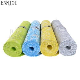 Wholesale folding gym mats - ENNJOI New Design 185cm*62cm 6MM Thickness TPE Yoga Mat Non-skid Exercise Pad Folding Gym Body Building Lose Weight Fitness Mat