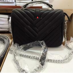 Wholesale Black Leather Backpack Handbags - high quality women Fashion luxury designer handbags leather backpack bags for women Chain shoulder bag ladies handbags cross bag