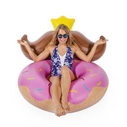 120 cm gigante rosquinha anel de natação barba cadeira de água inflável Float Air Lounge Colchão Adulto Piscina Festa Brinquedos boia, HA054 supplier pink swimming toys de Fornecedores de brinquedos de natação rosa