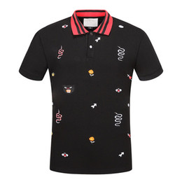 Wholesale Classic Polo Shirts For Men - famous designer POLO shirt Fashion Mens classic lapel T shirt luxury embroidery high-quality mesh cotton brand tee For Men JG307