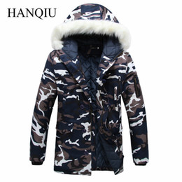 2bfdc59d55dcf 2018 New Brand Made of Goose Feather Winter Jacket Men Camouflage Thick Jacket  Men s Parka Coat Male Fur Collar Hooded Parkas C18111201