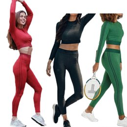 3a8591d805 Women s Colorful Crop Top Yoga Fitness Leather Moisture Absorption And  Sweat Releasing Pants Sports Running Suit Outdoor