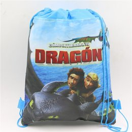 tessuto di stampa drago Sconti Baby Shower decorative Dragon prints Borsa con coulisse regalo compleanno regalo per bambini in tessuto non tessuto zaino 10pc