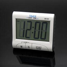 Temporizador de cuenta regresiva para cocinar online-Pantalla LCD Mini temporizador Cronómetro Cocina multifuncional Cocina Digital Temporizador de cuenta regresiva 12 / 24h Cuenta atrás Reloj Alarma DC101