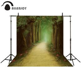 2019 malerkamera Allenjoy Fotografie Hintergrund Ölgemälde Stil Wald Pfad Pilz Märchen Hintergrund für Fotostudio Kamera fotografica rabatt malerkamera