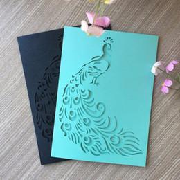 2019 разрабатывает элегантные свадебные приглашения Лазерная резка Павлин дизайн свадебные приглашения элегантный день рождения украшения Поздравительная открытка благословение дешево разрабатывает элегантные свадебные приглашения