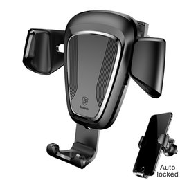 Wholesale Auto Mounting - Car Phone Holder Stand For iPhone X 8 7 6 5s Samsung S8 Auto-lock Air Vent Phone Mount Holder