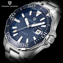Relógios de mergulho on-line-PAGANI DESIGN Clássico Dos Homens Série de Mergulho Relógios Mecânicos de Aço Inoxidável À Prova D 'Água Marca de Luxo Relógio Homens Relogio masculino