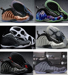 Wholesale Cheap Penny - 2017 Penny Hardaway Basketball Shoes Silver Mens Chaussure Homme Air European Pearl Pro One 1 Shoe Cheap Replicas Sport Sneakers With Box