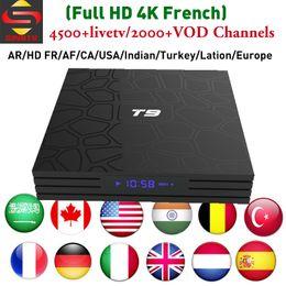Canada IPTV Set Top Box SINOTV abonnement iptv Arabe France UK USA Enlgish Meilleures chaînes de télévision IP Turquie indienne T9 RK3328 Android-TV-Box ? partir de fabricateur