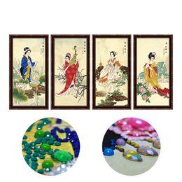 2019 pinturas de delfines Diy diamante pintura especial en forma de bordado de diamantes, 5d diamante mosaico kit de punto de cruz patrón chino 4 piezas belleza niñas
