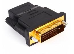 or convertir Promotion Plaqué Or DVI 24 + 1 HDMI Convertisseur Mâle / Femelle Adaptateur Convertisseur Câble Cabo pour HDTV LCD LLFA
