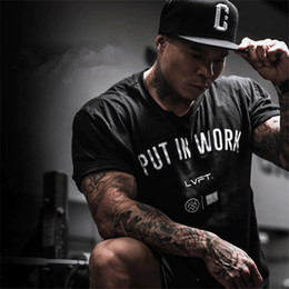 Wholesale Tight Gym Clothes - ZkcDoit New 2018 spring summer t-shirt men fashion brand t shirts fitness men summer short sleeve Tight gyms clothing