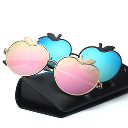óculos em forma de maçã Desconto Apple forma óculos de sol seis cores óculos de lentes de resina para homens e mulheres praia óculos de sol de alta qualidade 19df B