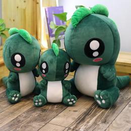 2019 boneca de bebês bonitos 25/30 / 40CM Little Monster brinquedo de pelúcia bonito mini dinossauro bonecas bebê crianças dedo recheado brinquedos macios lindo presente de aniversário boneca de bebês bonitos barato